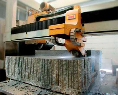 Cutting Granite Slab